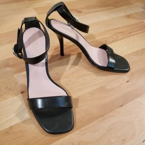 Womens Black Strappy High Heels Size 8